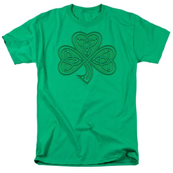 Celtic Shamrock Short Sleeve Adult Kelly Green T-Shirt