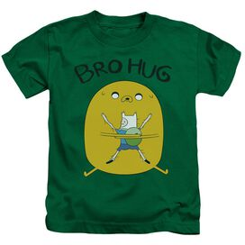 Adventure Time Bro Hug Short Sleeve Juvenile Kelly Green T-Shirt