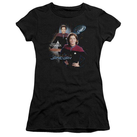 Star Trek Captain Janeway Short Sleeve Junior Sheer T-Shirt