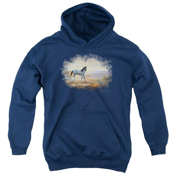 Wildlife Dust At Dawn Youth Pull Over Hoodie