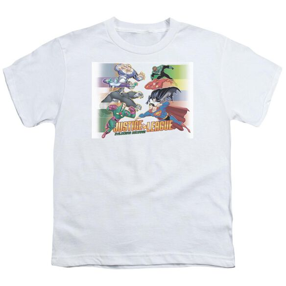 Jla Evildoers Beware Short Sleeve Youth T-Shirt
