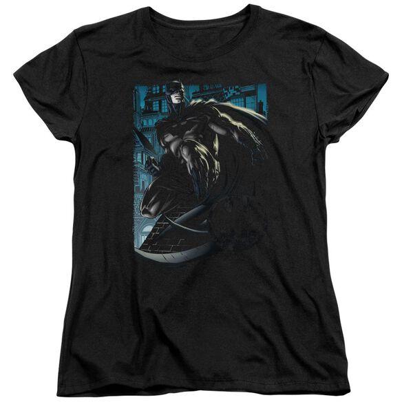 Batman Knight Falls In Gotham Short Sleeve Womens Tee T-Shirt