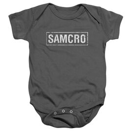 Sons Of Anarchy Samcro Infant Snapsuit Charcoal