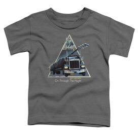Def Leppard On Through The Night Short Sleeve Toddler Tee Charcoal T-Shirt