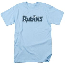 Rubiks Cube Rough Logo Short Sleeve Adult Light T-Shirt