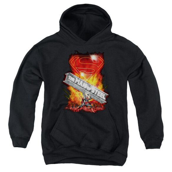 Superman Steel Girder Youth Pull Over Hoodie