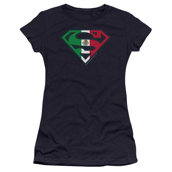 Superman Mexican Shield Premium Bella Junior Sheer Jersey