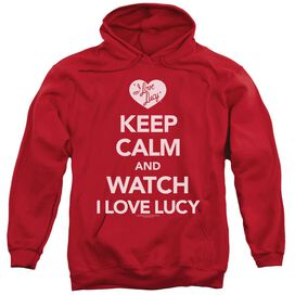 I Love Lucy Keep Calm And Watch Adult Pull Over Hoodie