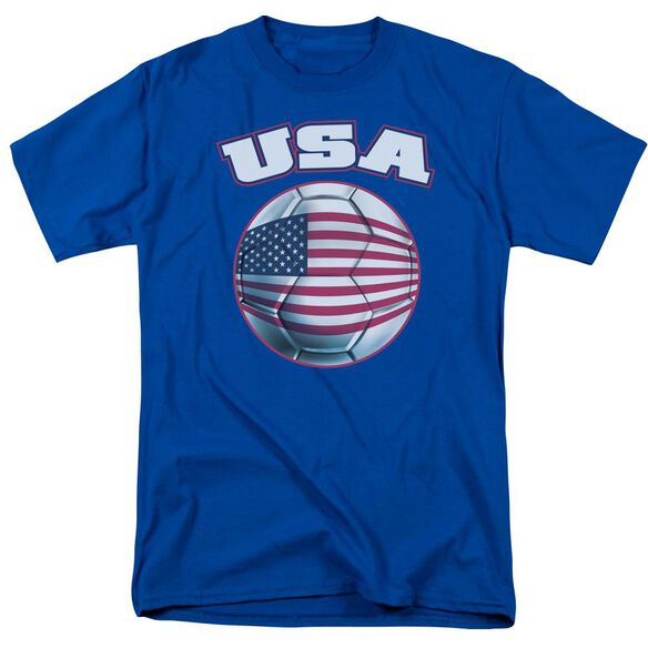 Usa Short Sleeve Adult Royal Blue T-Shirt