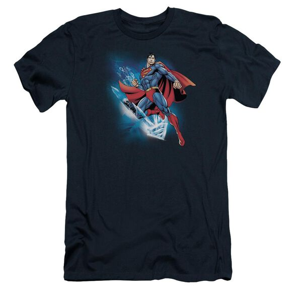 SUPERMAN CRYSTALLIZE - S/S ADULT 30/1 - NAVY T-Shirt