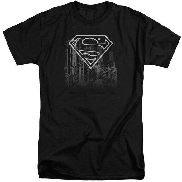 Superman Skyline Short Sleeve Adult Tall T-Shirt