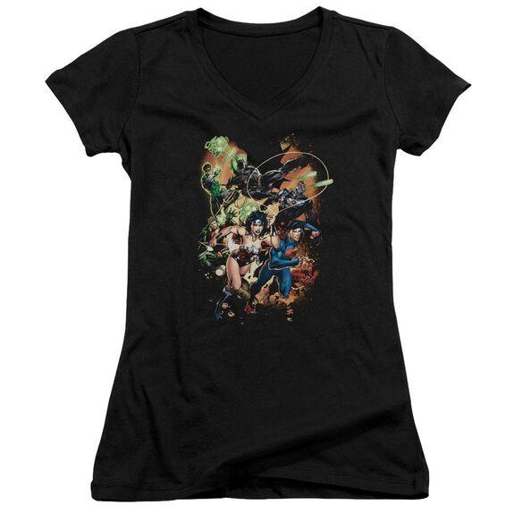 Jla Battle Ready Junior V Neck T-Shirt