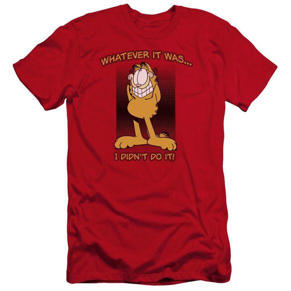Garfield I Didn't Do It Premuim Canvas Adult Slim Fit