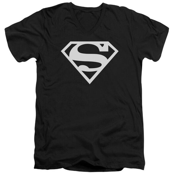 Superman Logo Short Sleeve Adult V Neck T-Shirt
