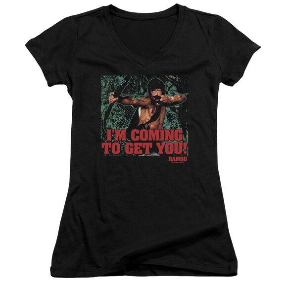 Rambo:First Blood Ii I'm Coming Junior V Neck T-Shirt