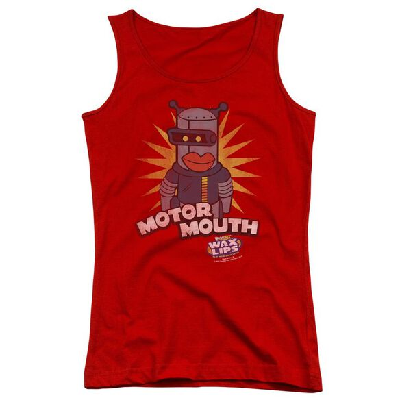 Dubble Bubble Motor Mouth - Juniors Tank Top - Red