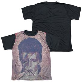 David Bowie Glam Short Sleeve Youth Front Black Back T-Shirt