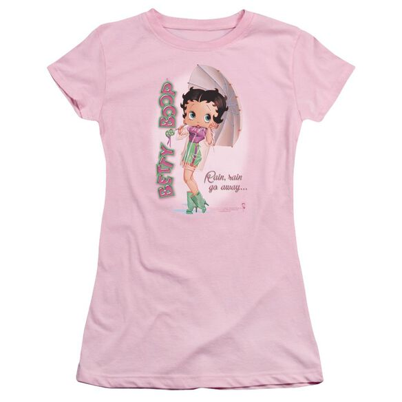 Betty Boop Rain Rain Go Away Short Sleeve Junior Sheer T-Shirt