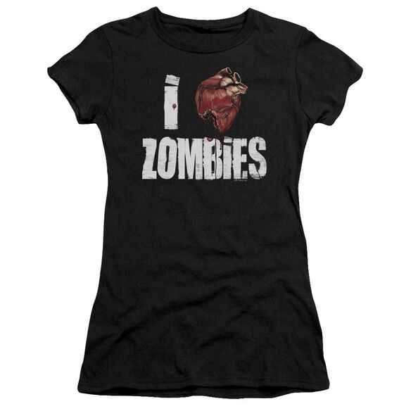 I Bloody Heart Zobmies Short Sleeve Junior Sheer T-Shirt