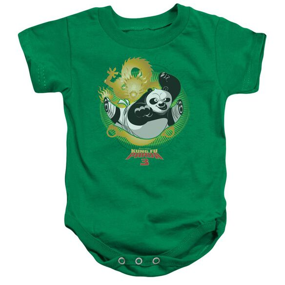 Kung Fu Panda Drago Po Infant Snapsuit Kelly Green