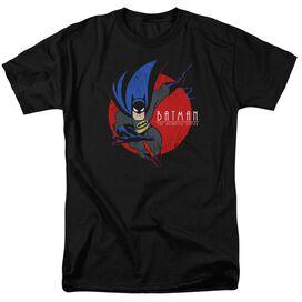 Batman The Animated Series Swinging In Short Sleeve Adult Black T-Shirt