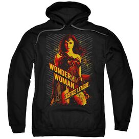 Justice League Movie Wonder Woman Adult Pull Over Hoodie