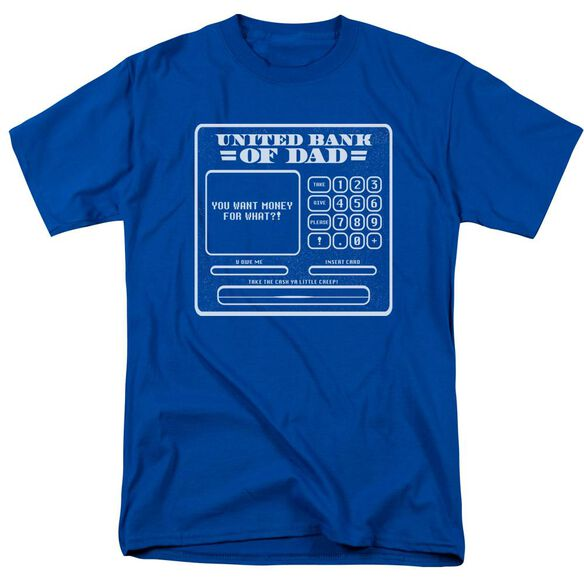 Dad Aka Atm Short Sleeve Adult Royal Blue T-Shirt