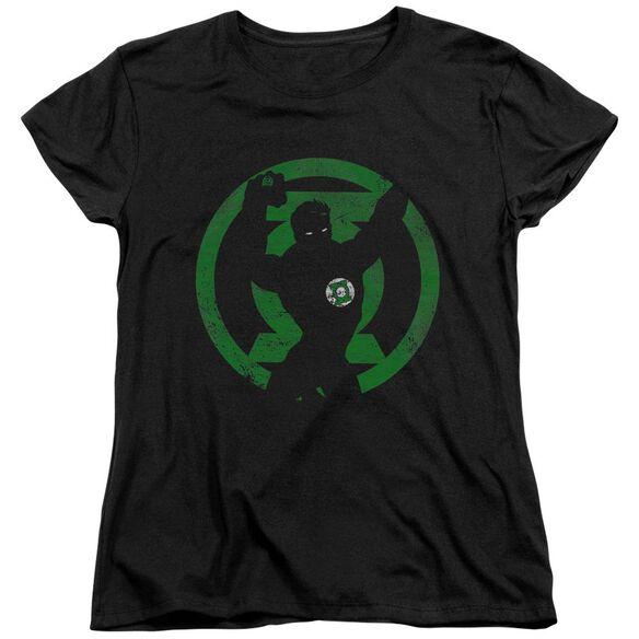 Dc Gl Symbol Knockout Short Sleeve Womens Tee T-Shirt