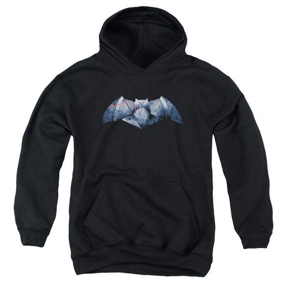 Batman V Superman Plated Bat Logo Youth Pull Over Hoodie