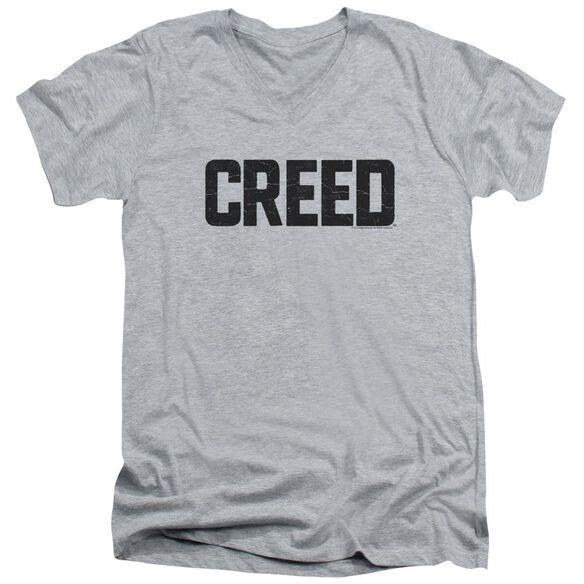 Creed Cracked Logo Short Sleeve Adult V Neck Athletic T-Shirt