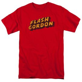 Flash Gordon Logo Short Sleeve Adult Red T-Shirt