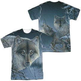 Wild Wings Midnight Wolves (Front Back Print) Short Sleeve Adult Poly Crew T-Shirt