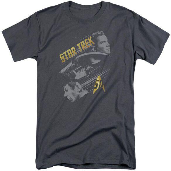 Star Trek 50 Year Frontier Short Sleeve Adult Tall T-Shirt