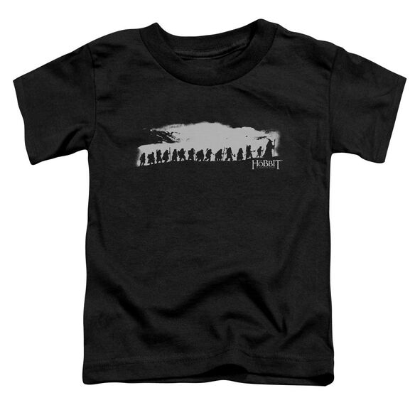 The Hobbit The Company Short Sleeve Toddler Tee Black T-Shirt