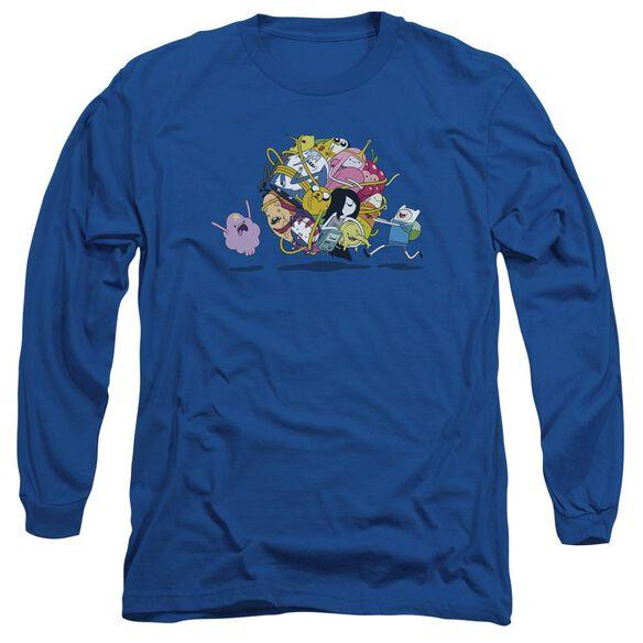 Adventure Time Glob Ball Long Sleeve Adult Royal T-Shirt
