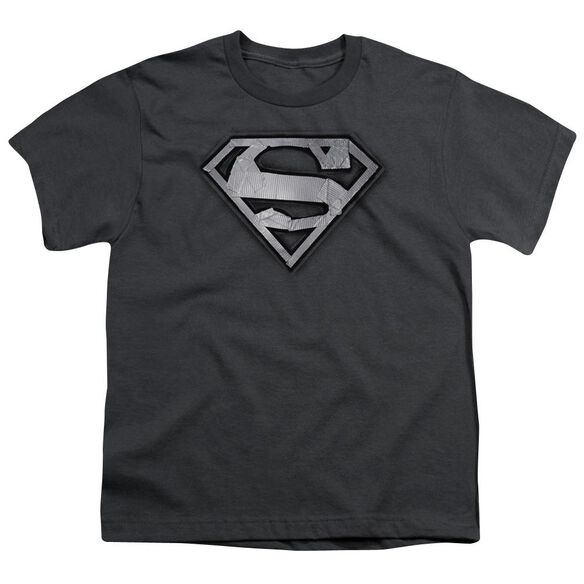 Superman Duct Tape Shield Short Sleeve Youth T-Shirt