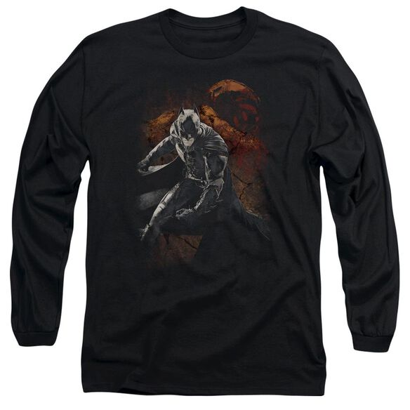 Dark Knight Rises Grungy Knight Long Sleeve Adult T-Shirt