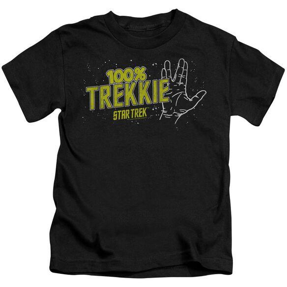 Star Trek Trekkie Short Sleeve Juvenile Black T-Shirt