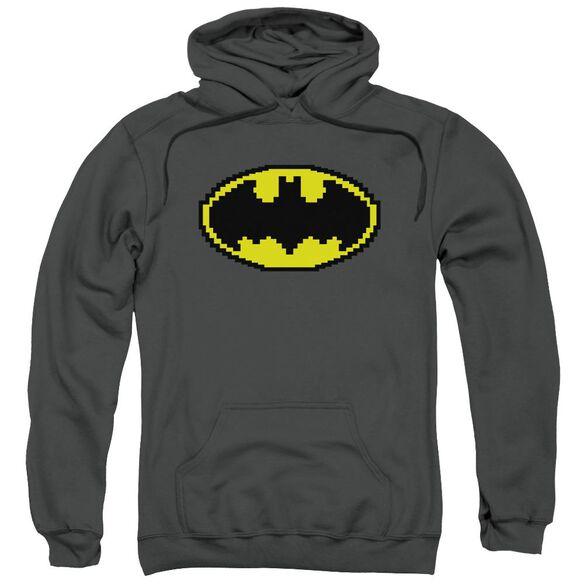 Batman Pixel Symbol Adult Pull Over Hoodie