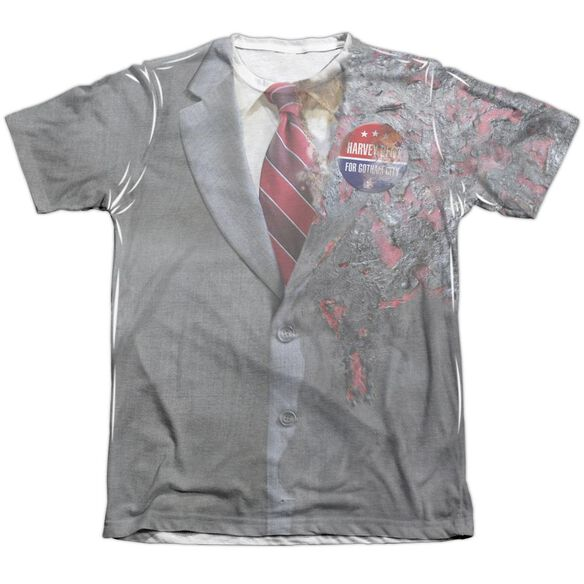 Dark Knight Two Face Costume Adult Poly Cotton Short Sleeve Tee T-Shirt