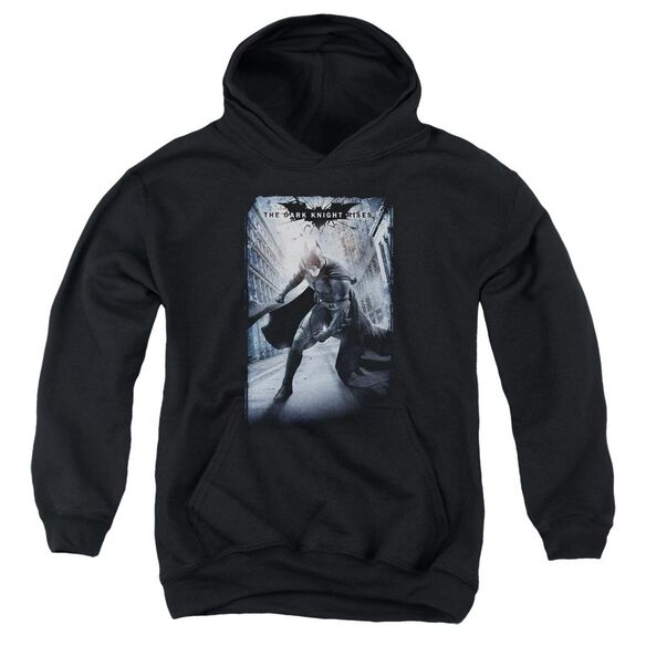 Dark Knight Rises Crumbled Poster Youth Pull Over Hoodie