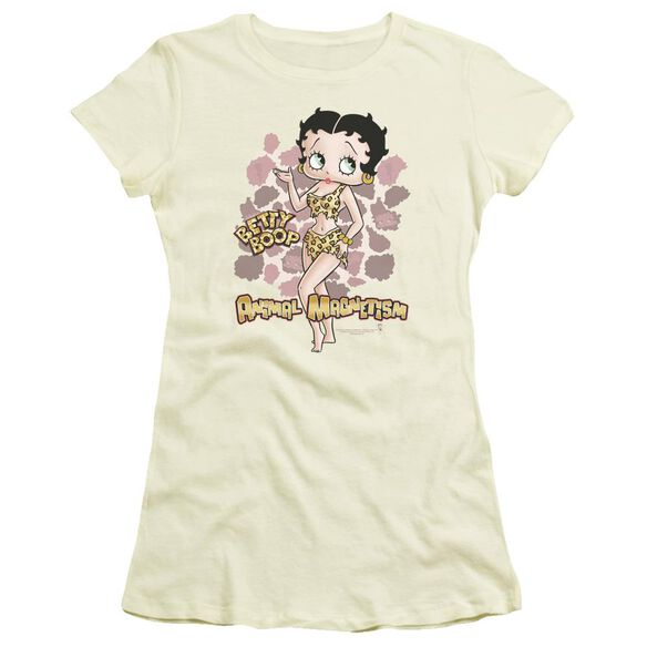 Betty Boop Animal Magnetism Short Sleeve Junior Sheer T-Shirt