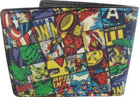 Avengers Hero Squares Allover Print Bifold Wallet