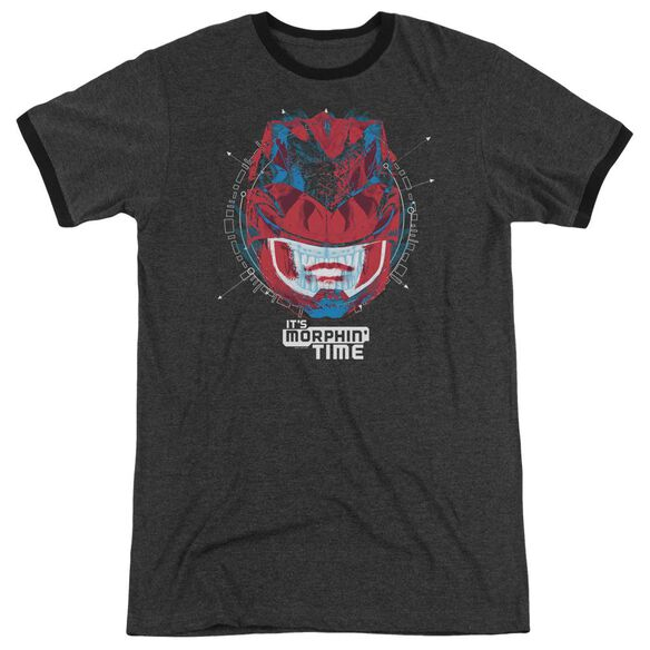 Power Rangers Its Morphin Time Adult Ringer Charcoal