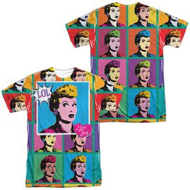 I Love Lucy Lol (Front Back Print) Short Sleeve Adult Poly Crew T-Shirt