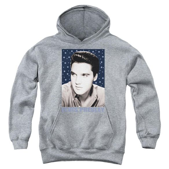 Elvis Blue Sparkle Youth Pull Over Hoodie