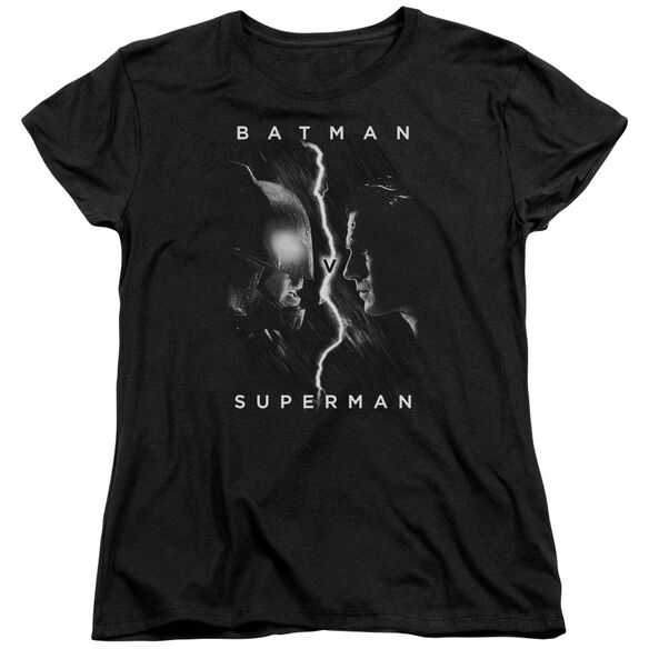 Batman V Superman Face To Face Short Sleeve Womens Tee T-Shirt
