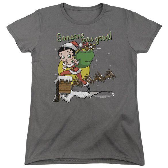 Betty Boop Chimney Short Sleeve Womens Tee T-Shirt