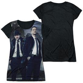 Gotham City Nights Short Sleeve Junior Poly Black Back T-Shirt