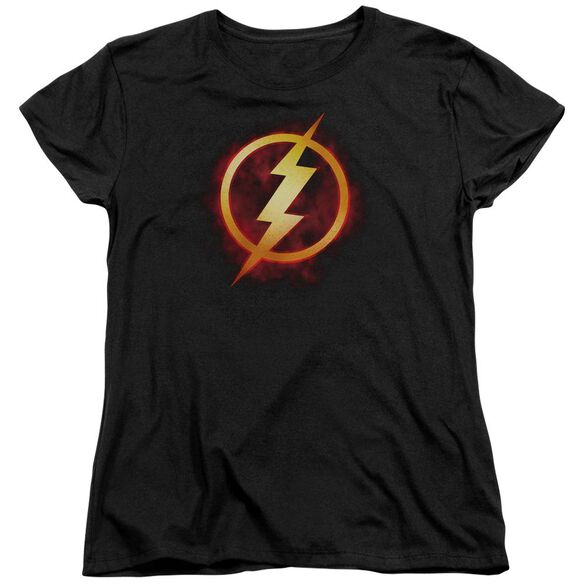 Jla Flash Title Short Sleeve Womens Tee T-Shirt